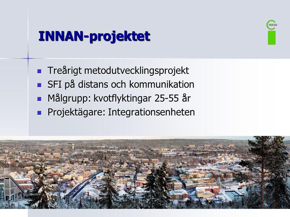INNAN-projektet Treårigt metodutvecklingsprojekt