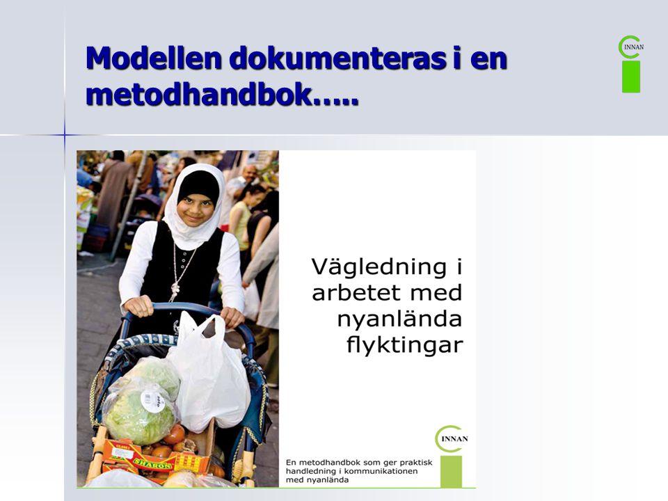 Modellen dokumenteras i en metodhandbok…..