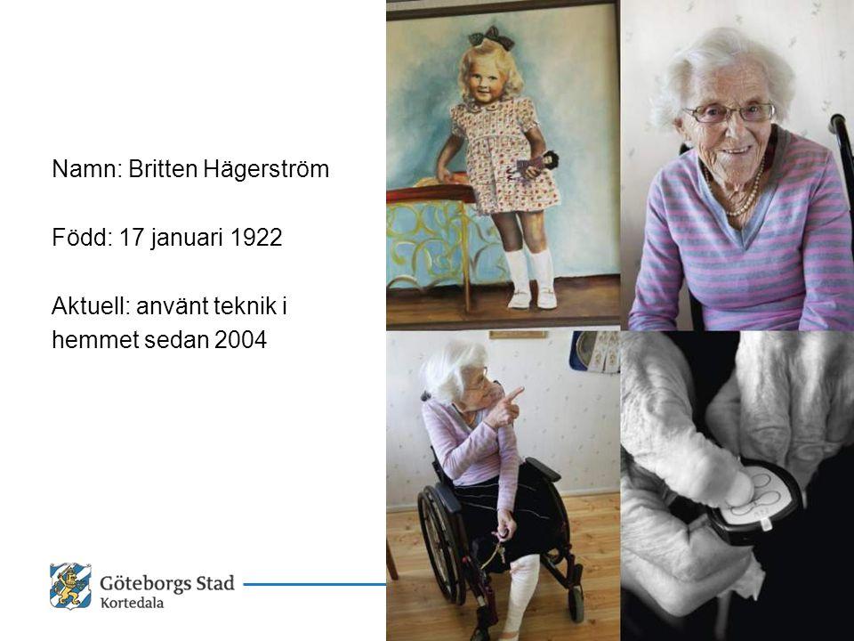 15 oktober 2009 Namn: Britten Hägerström. Född: 17 januari 1922.