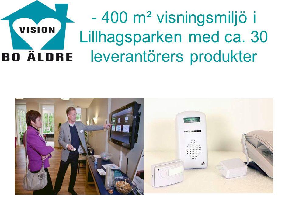 - 400 m² visningsmiljö i Lillhagsparken med ca