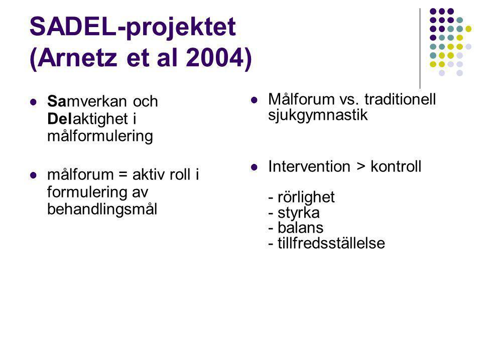 SADEL-projektet (Arnetz et al 2004)