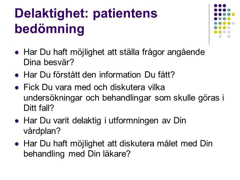 Delaktighet: patientens bedömning