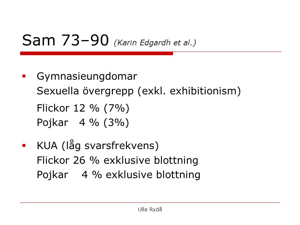 Sam 73–90 (Karin Edgardh et al.)