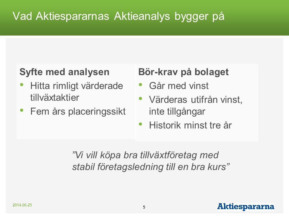 Vad Aktiespararnas Aktieanalys bygger på