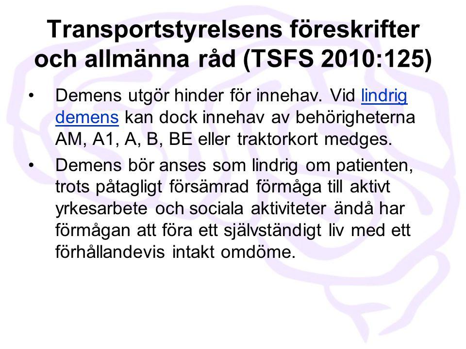 Transportstyrelsens föreskrifter och allmänna råd (TSFS 2010:125)