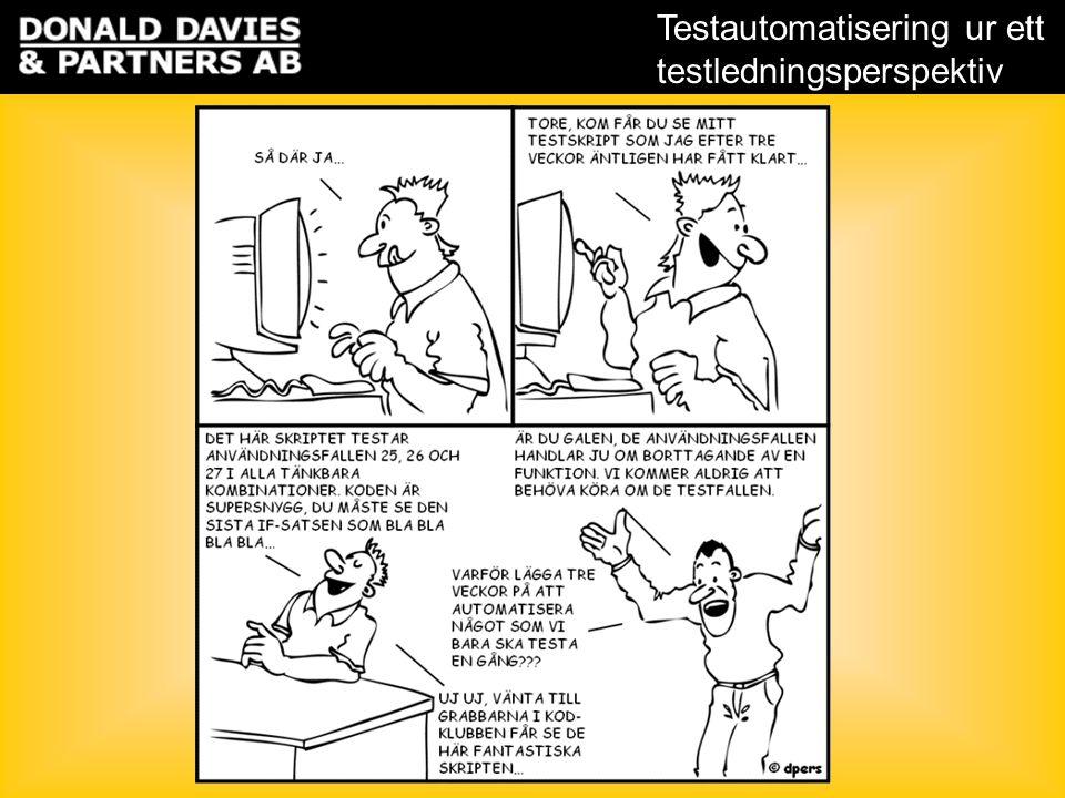 Testautomatisering ur ett testledningsperspektiv