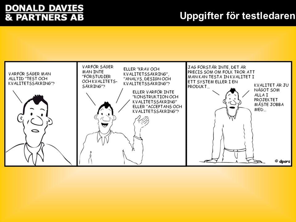 Uppgifter för testledaren