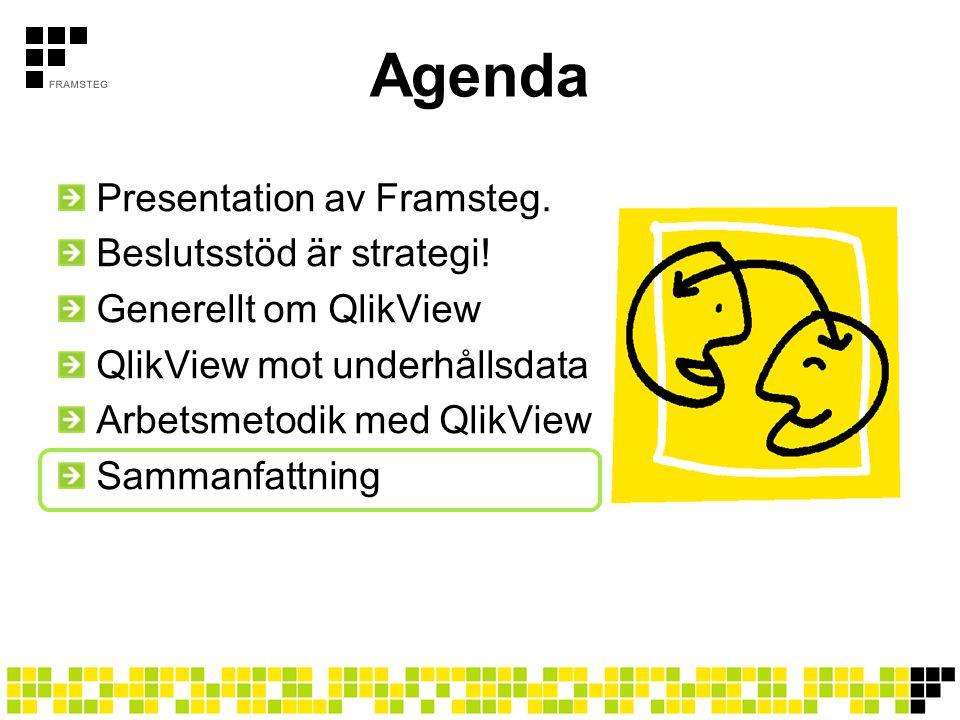 Agenda Presentation av Framsteg. Beslutsstöd är strategi!