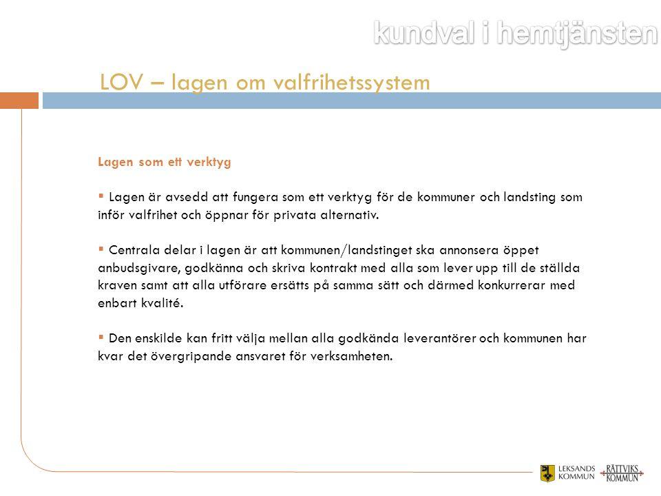 LOV – lagen om valfrihetssystem