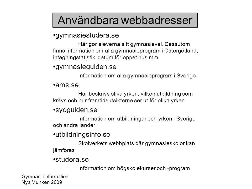 Användbara webbadresser