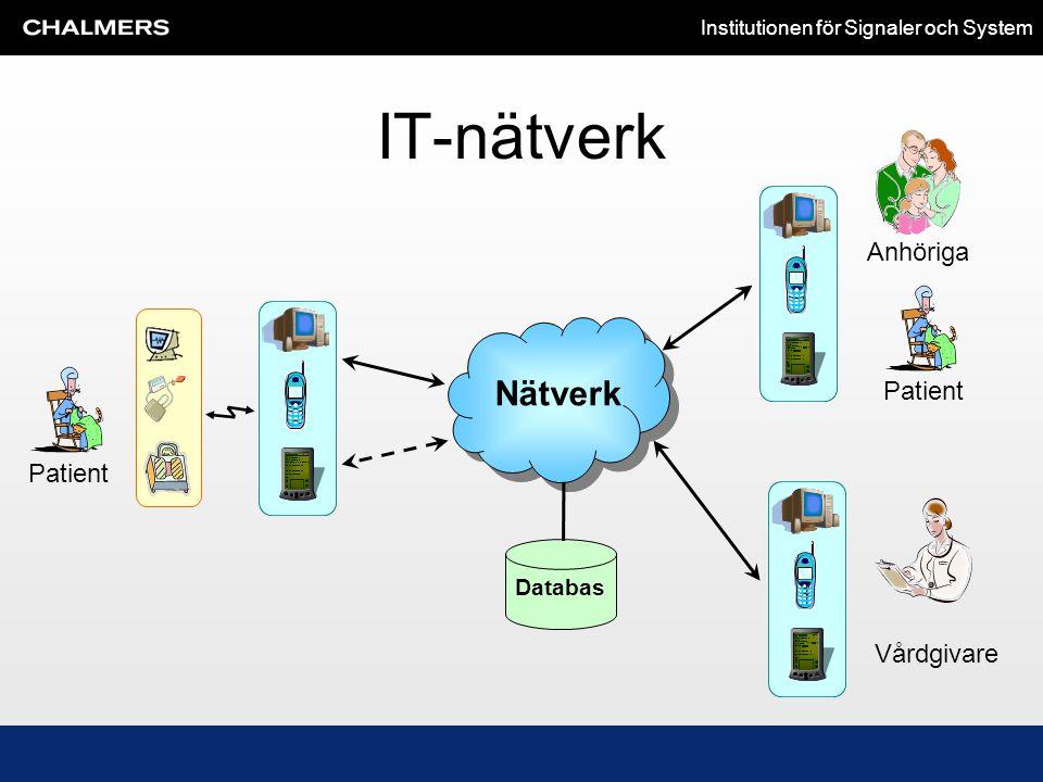 IT-nätverk Anhöriga Patient Patient Nätverk Databas Vårdgivare