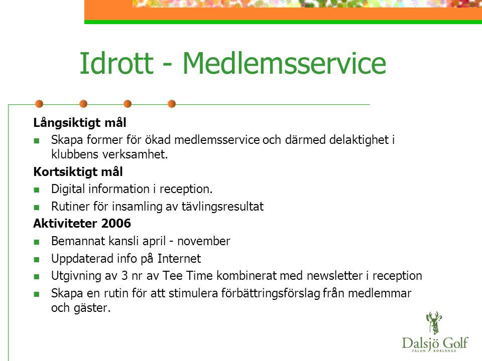 Idrott - Medlemsservice