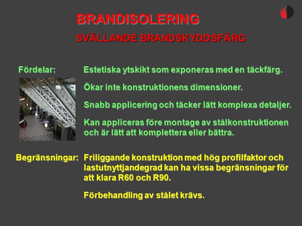 BRANDISOLERING SVÄLLANDE BRANDSKYDDSFÄRG Fördelar: