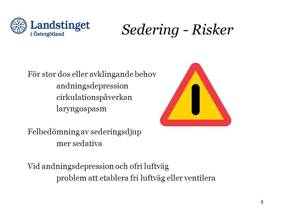 Sedering - Risker