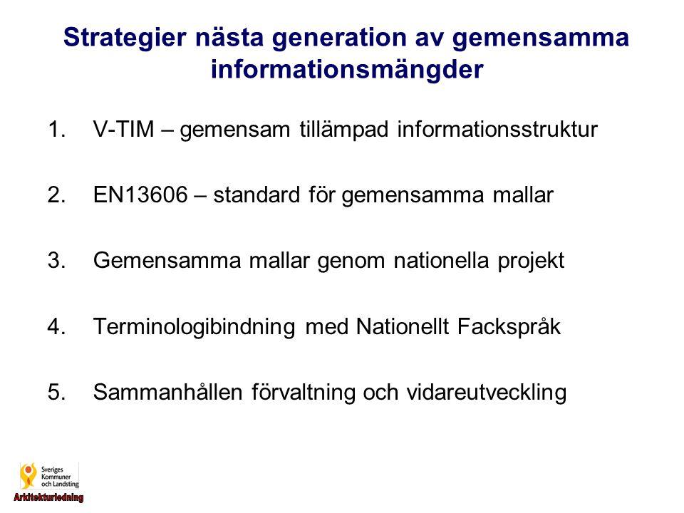 Strategier nästa generation av gemensamma informationsmängder