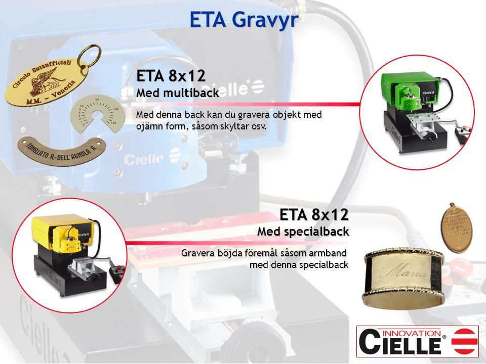 ETA Gravyr ETA 8x12 ETA 8x12 Med multiback Med specialback