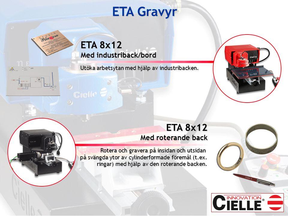 ETA Gravyr ETA 8x12 ETA 8x12 Med industriback/bord Med roterande back