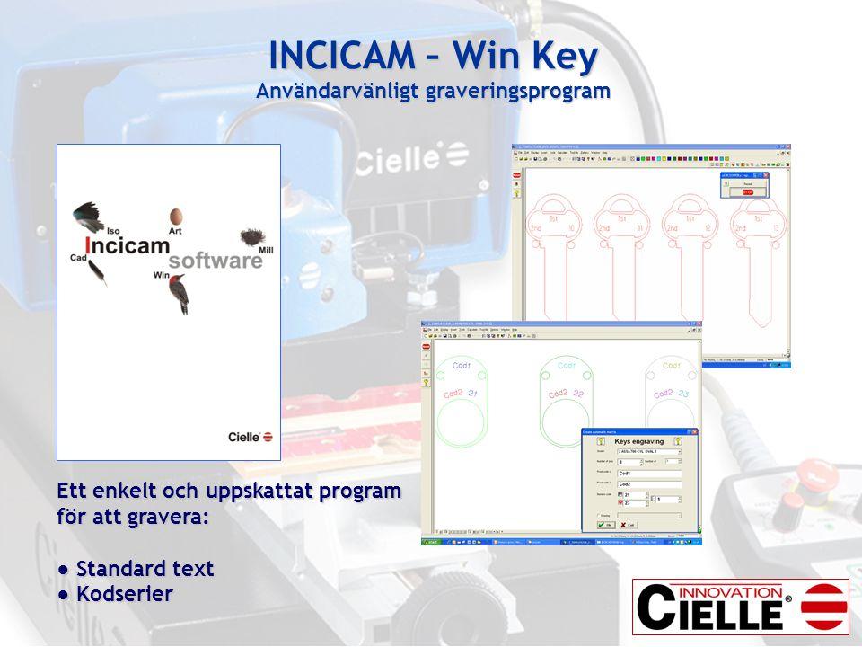 INCICAM – Win Key Användarvänligt graveringsprogram