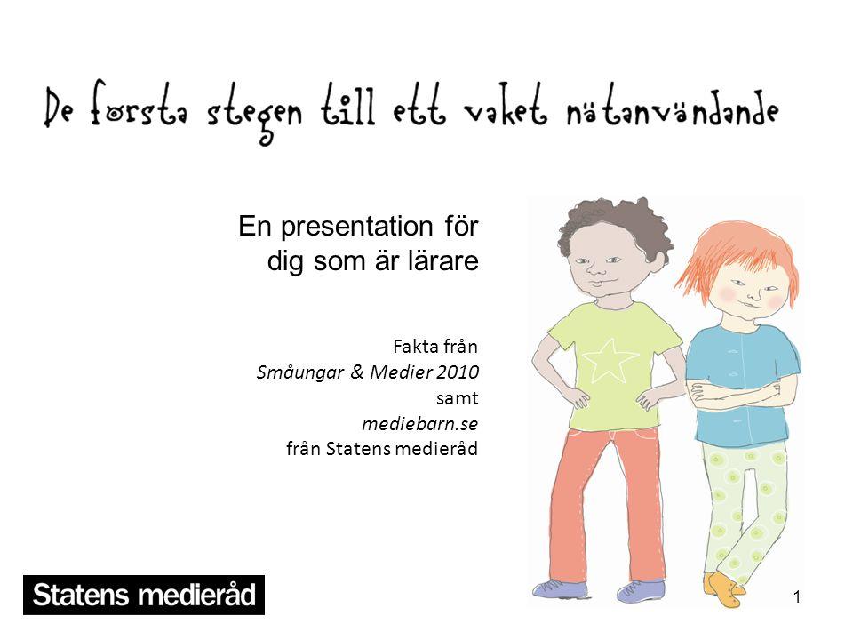 En presentation för dig som är lärare