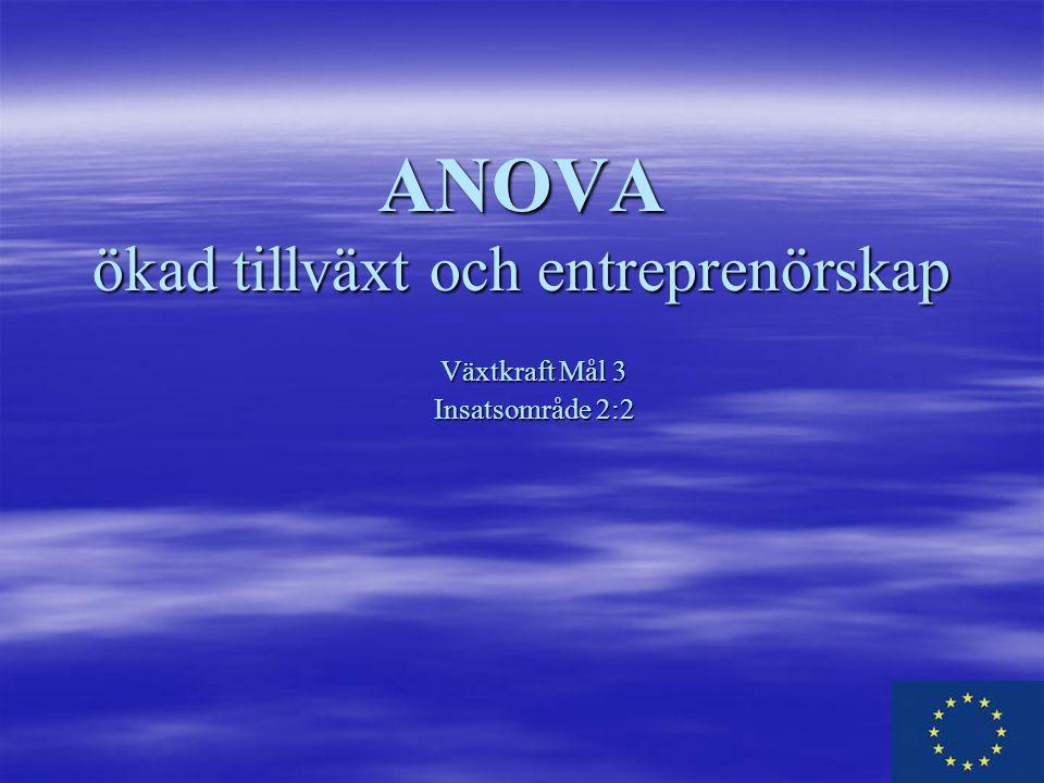 ANOVA ökad tillväxt och entreprenörskap