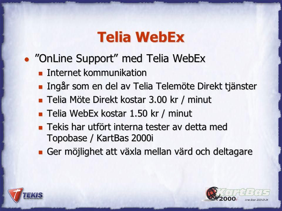 Telia WebEx OnLine Support med Telia WebEx Internet kommunikation