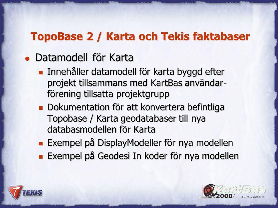 TopoBase 2 / Karta och Tekis faktabaser