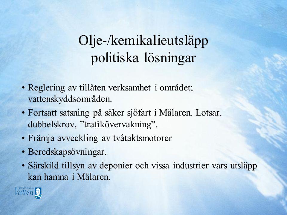 Olje-/kemikalieutsläpp politiska lösningar