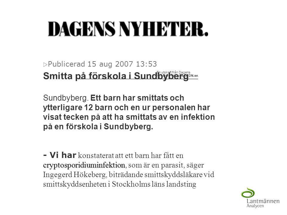 Smitta på förskola i Sundbyberg