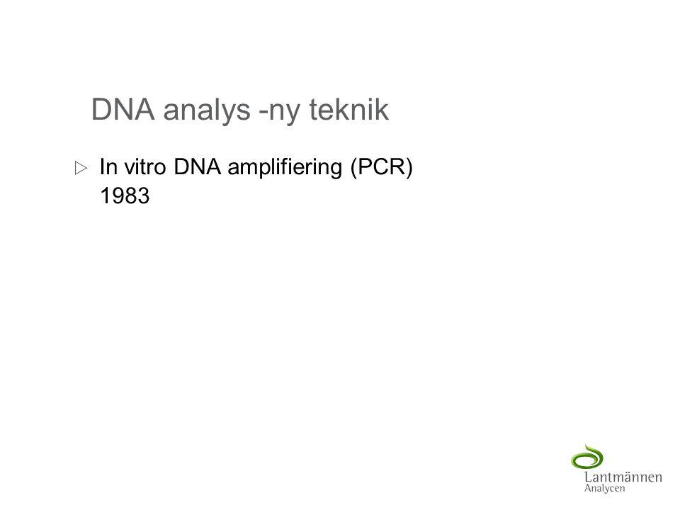 DNA analys -ny teknik In vitro DNA amplifiering (PCR) 1983
