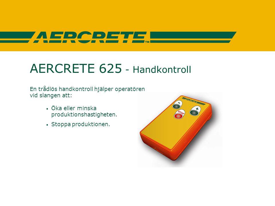 AERCRETE 625 - Handkontroll