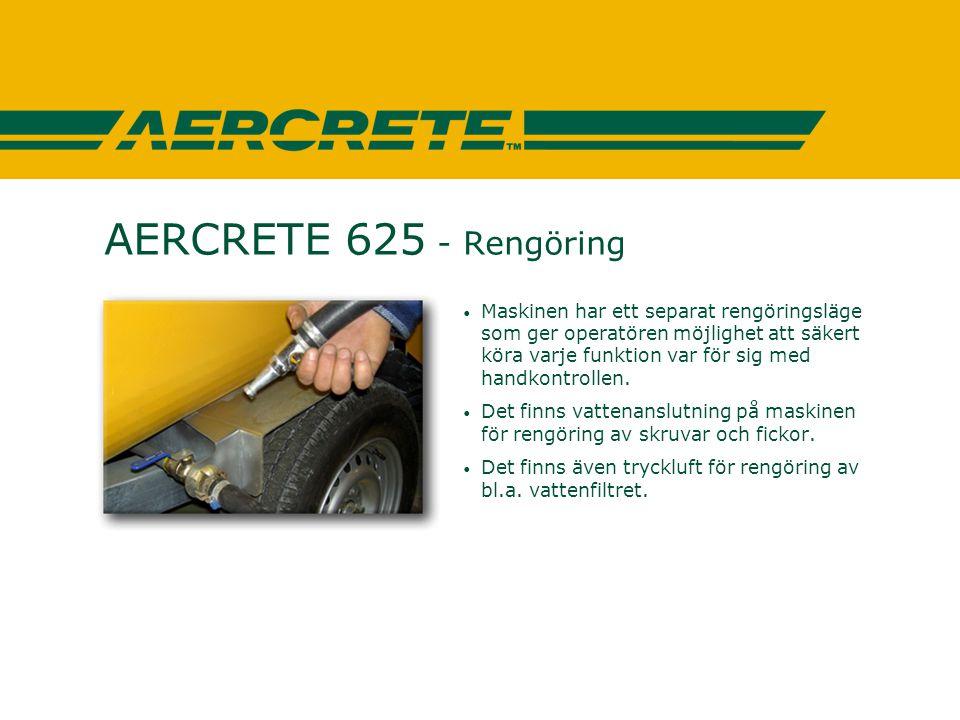 AERCRETE 625 - Rengöring