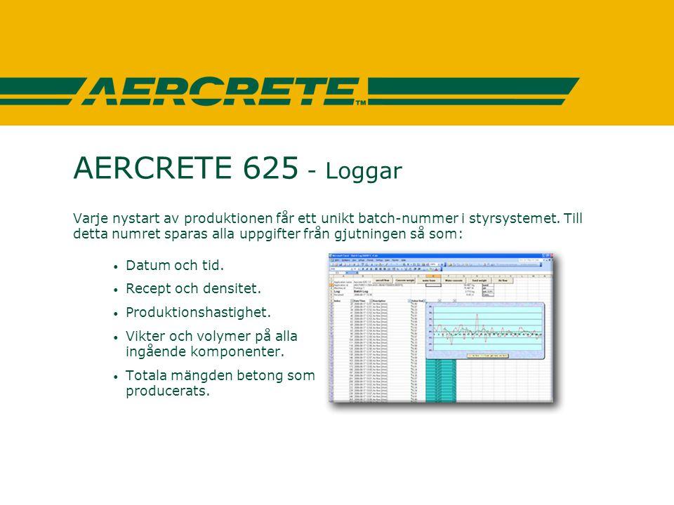 AERCRETE 625 - Loggar