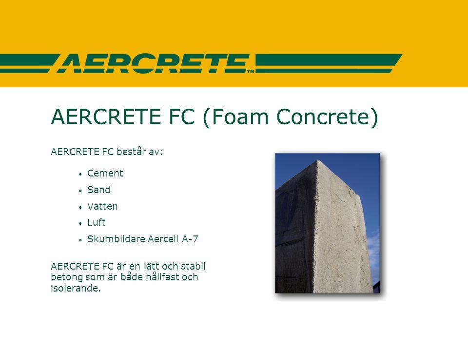AERCRETE FC (Foam Concrete)