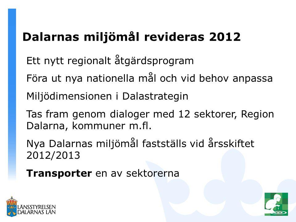 Dalarnas miljömål revideras 2012