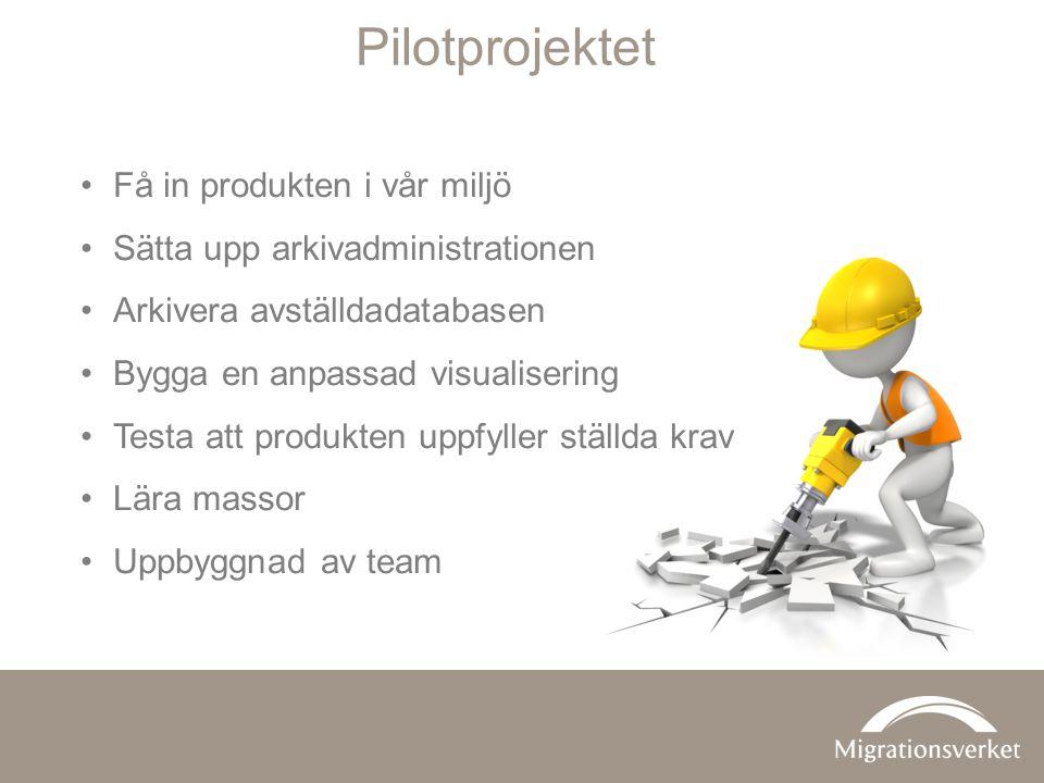 Pilotprojektet Få in produkten i vår miljö