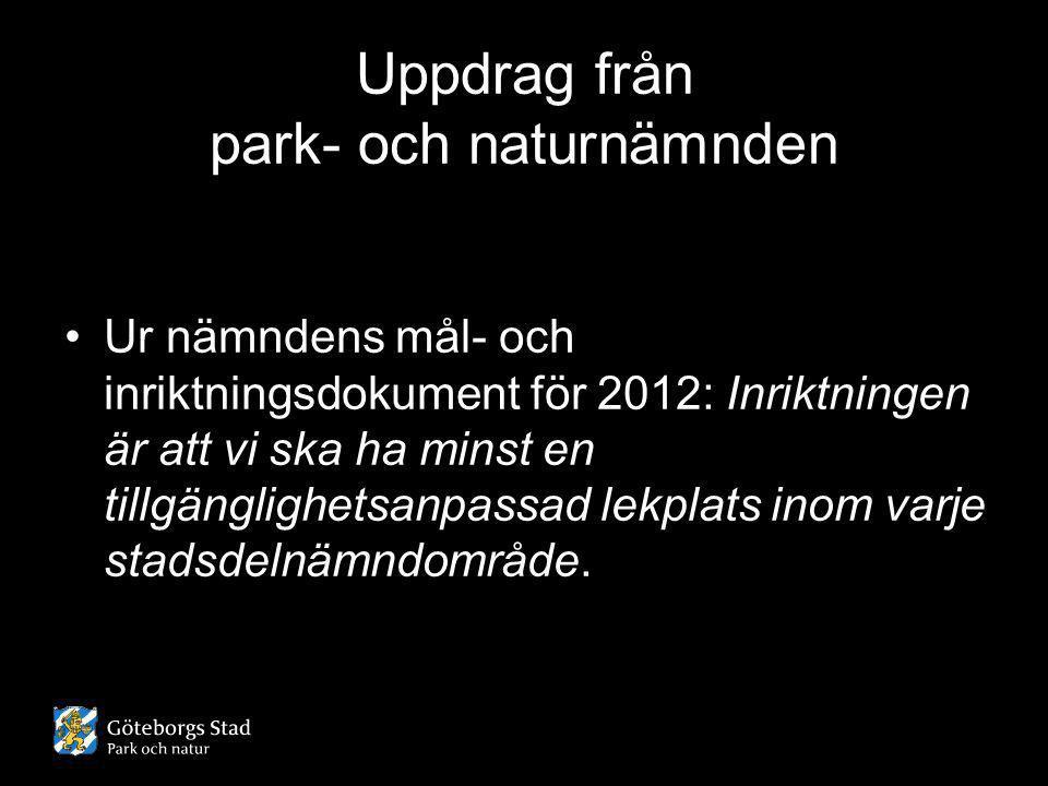Uppdrag från park- och naturnämnden