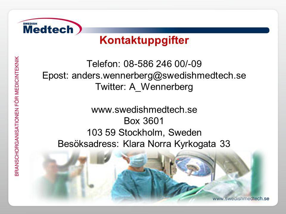 Kontaktuppgifter Telefon: 08-586 246 00/-09 Epost: anders