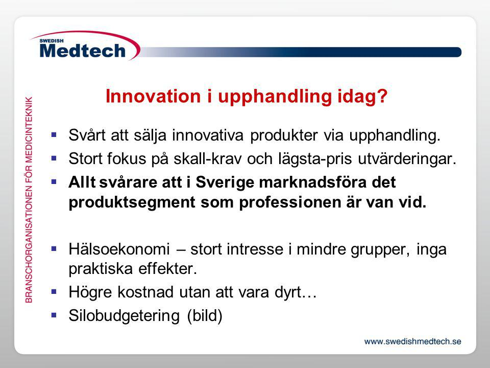 Innovation i upphandling idag