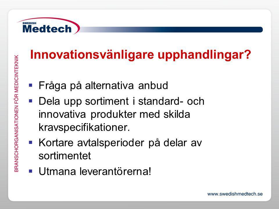 Innovationsvänligare upphandlingar