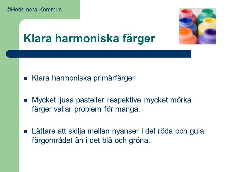 Klara harmoniska färger