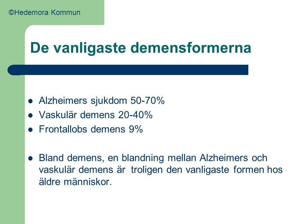 De vanligaste demensformerna