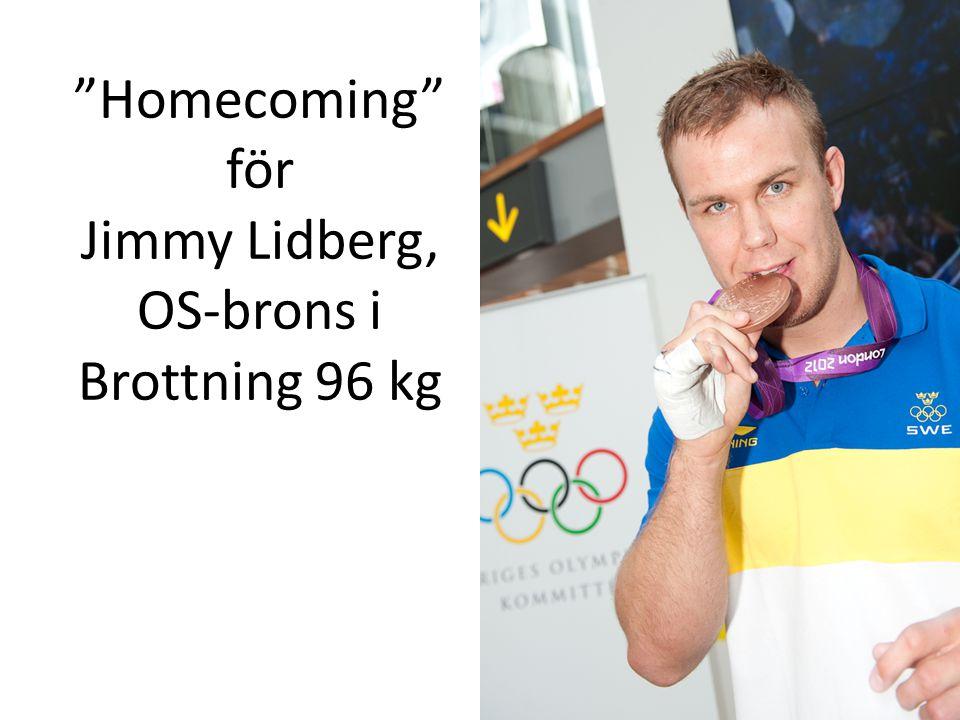 Homecoming för Jimmy Lidberg, OS-brons i Brottning 96 kg