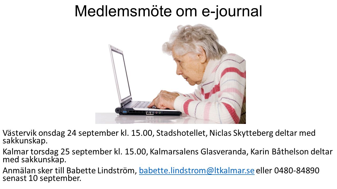 Medlemsmöte om e-journal