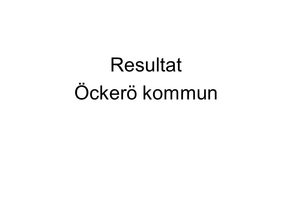 Resultat Öckerö kommun