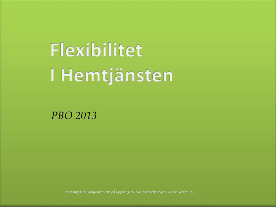 Flexibilitet I Hemtjänsten PBO 2013