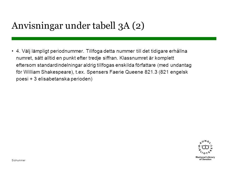 Anvisningar under tabell 3A (2)