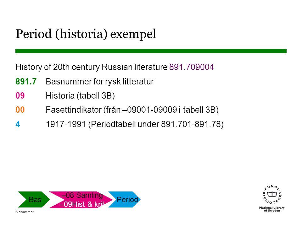 Period (historia) exempel
