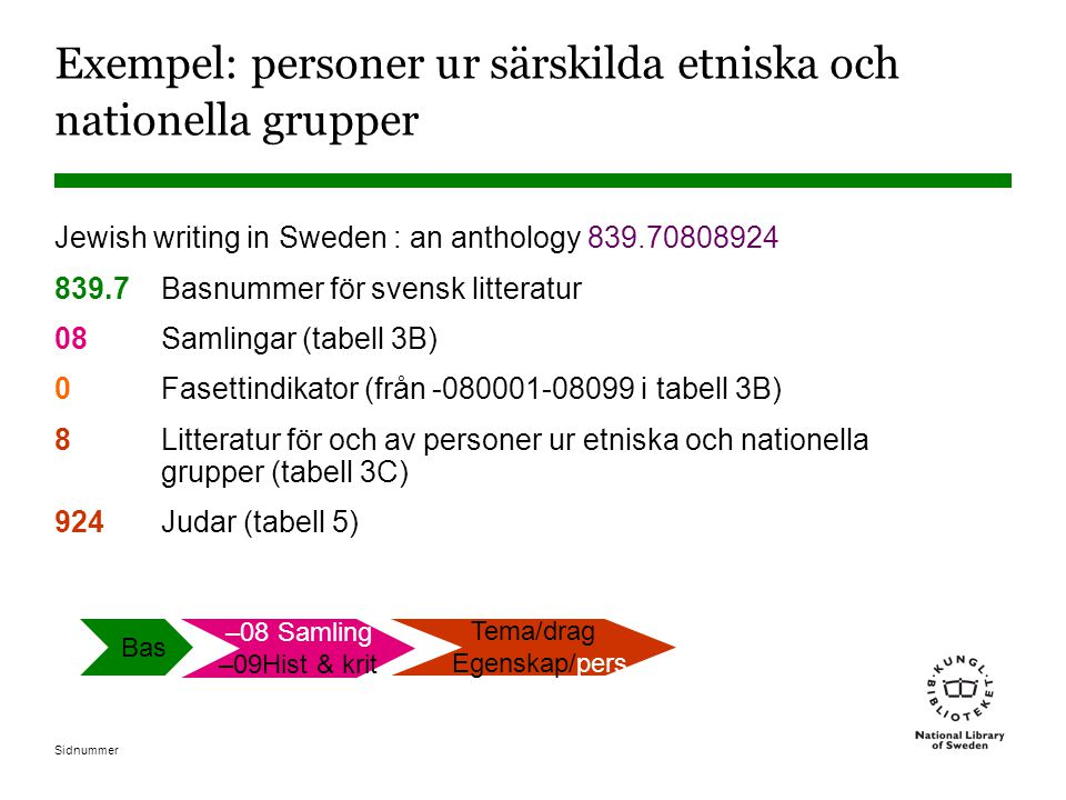 Exempel: personer ur särskilda etniska och nationella grupper