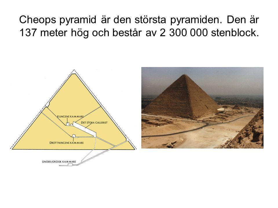 Cheops pyramid är den största pyramiden
