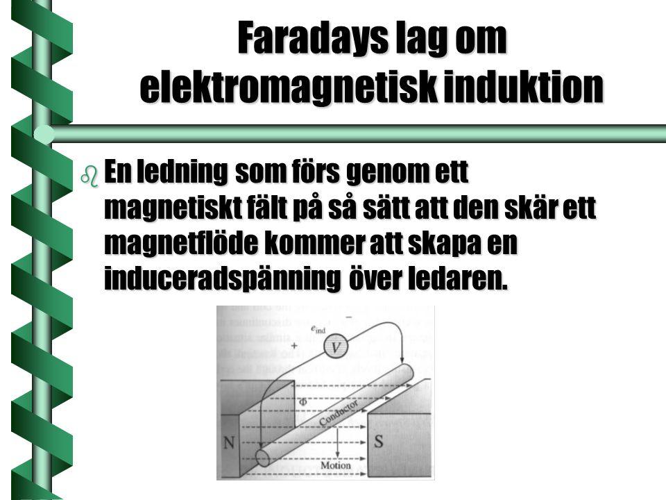 Faradays lag om elektromagnetisk induktion